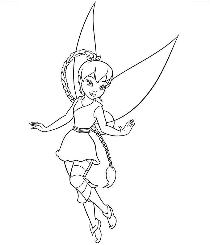 baby tinkerbell coloring pages - photo#33