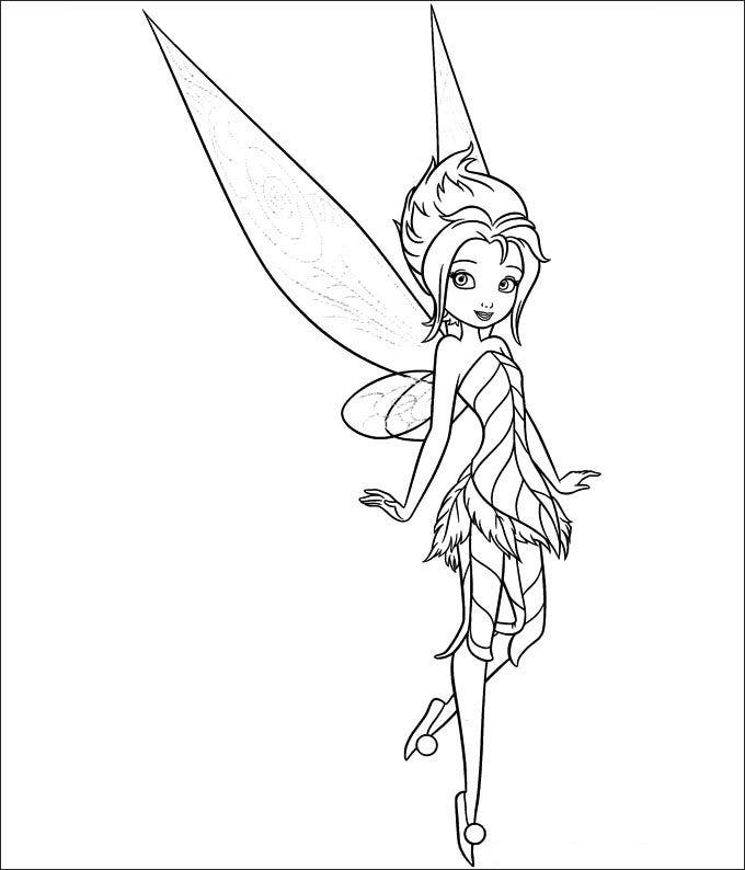 baby tinkerbell coloring pages - photo#6