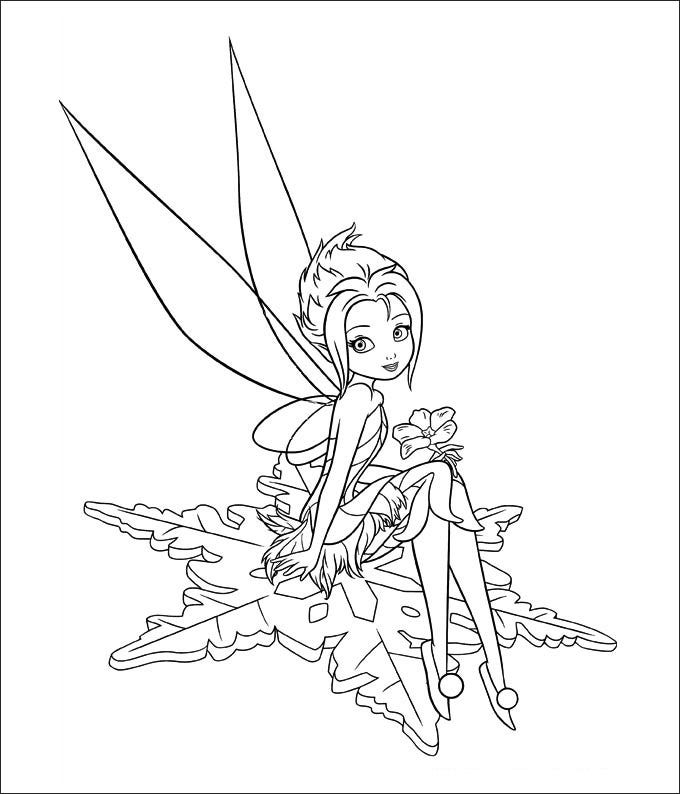 baby tinkerbell coloring pages - photo#9