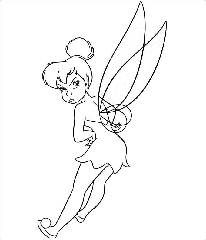 baby tinkerbell coloring pages - photo#16
