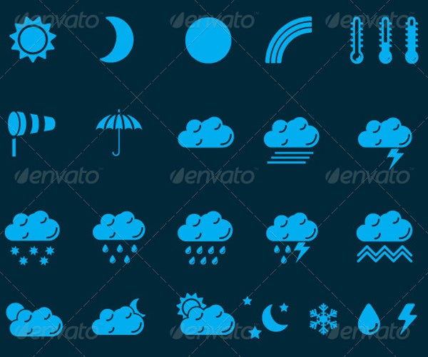 tomy weather icons set