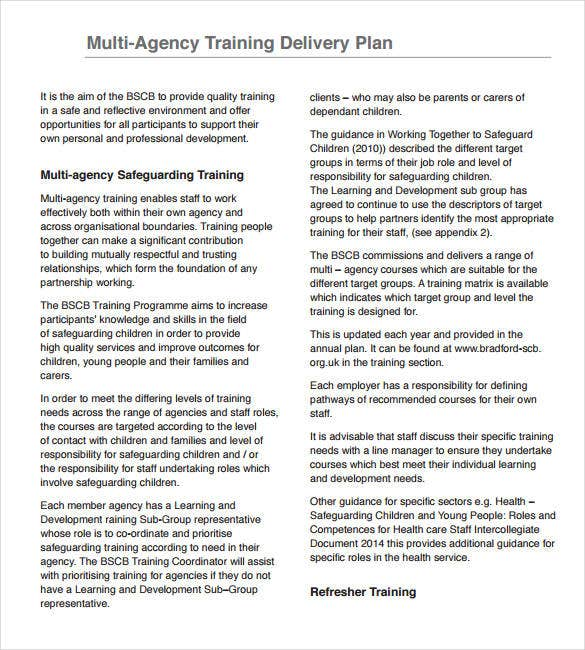 training and development strategy delivery plan