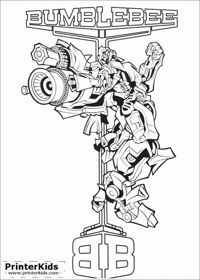 transformer bumblebee coloring pages - photo#5