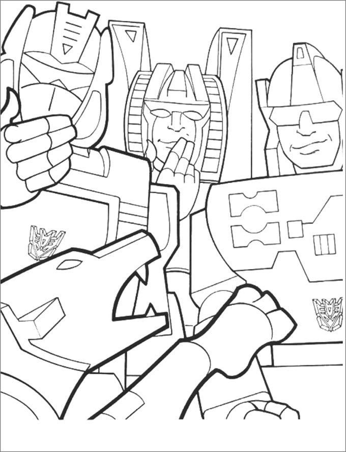 30+ Transformers Colouring Pages | Free & Premium Templates