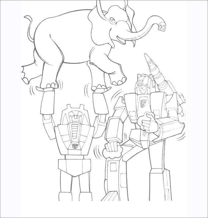 transformers coloring pages printable