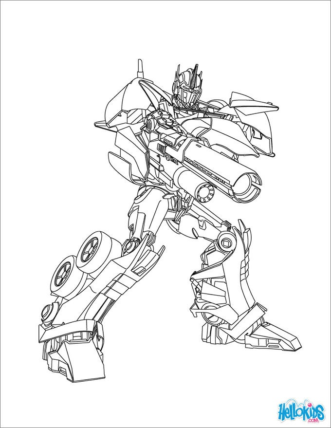 Transformers Coloring Sheets Optimus Prime