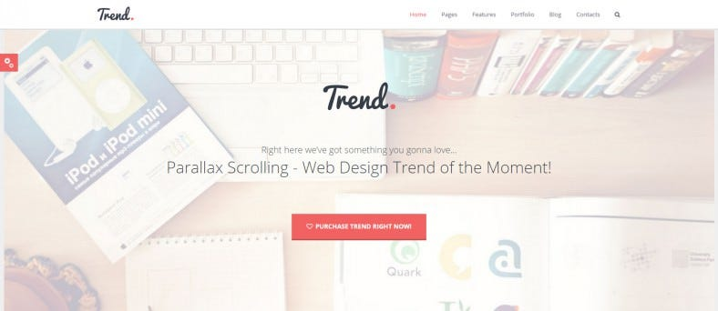 Trend - Flat & Clean Drag & Drop WP Theme