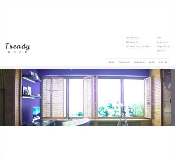 trendy room e commerce wordpress theme