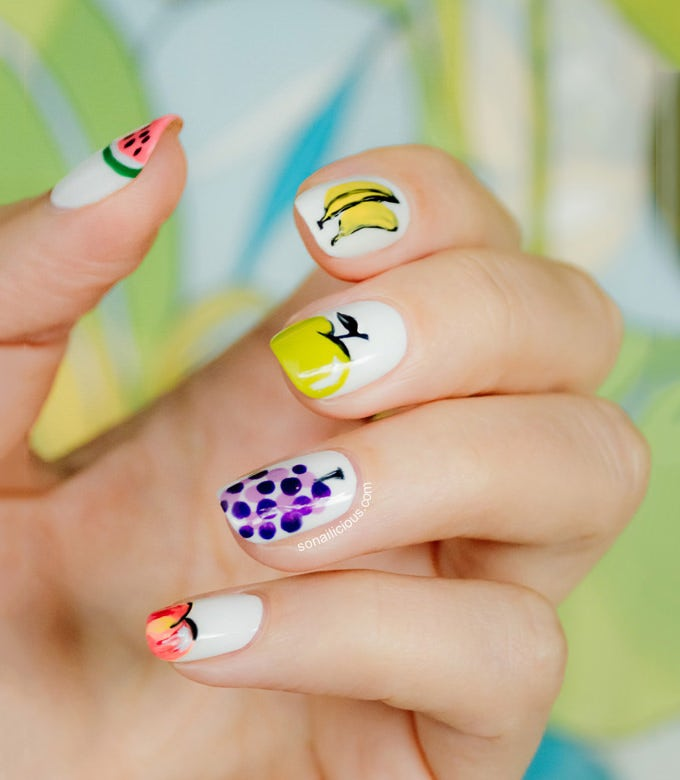 tutti frutti nail design for summer