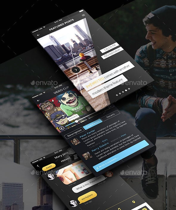 ui design psd templates