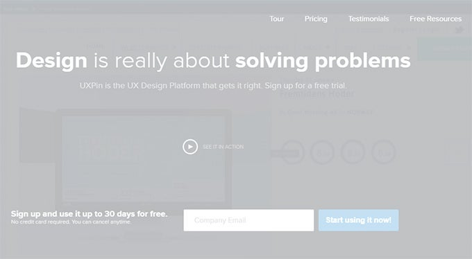ux pin cloud based ux design tool