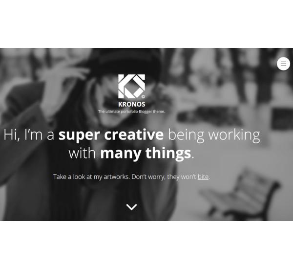 ultimate responsive portofolio blogger theme