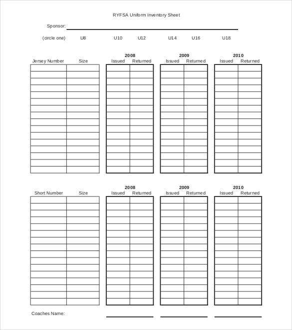uniform-inventory-sheet