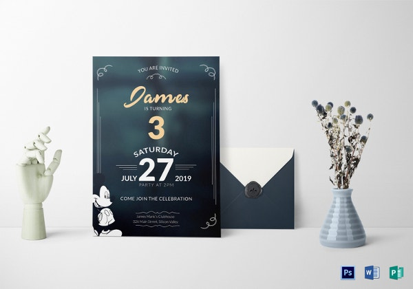 unique mickey mouse invitation template