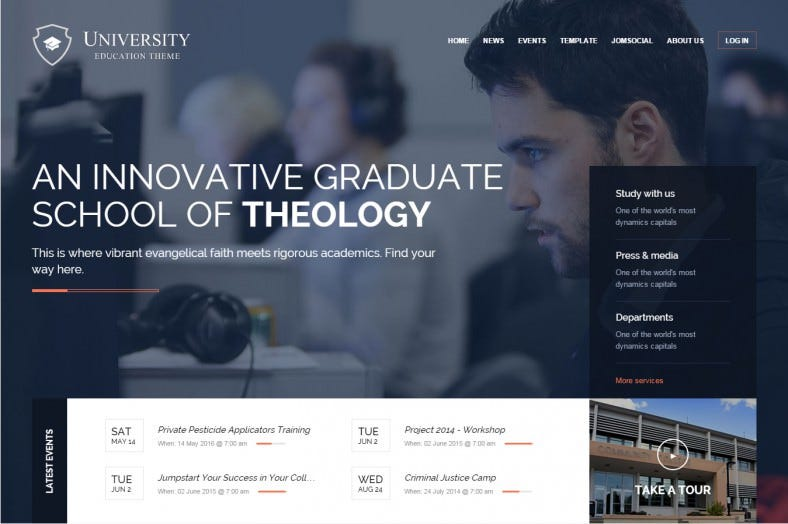 university education joomla template 788x524