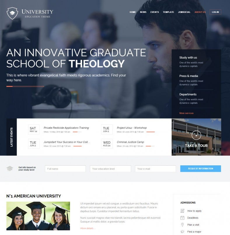 university joomla education template 58 788x803