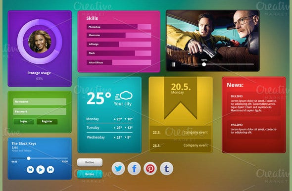 user interface psd templates