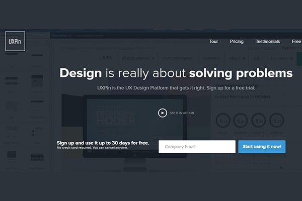 uxpin prototyping tool