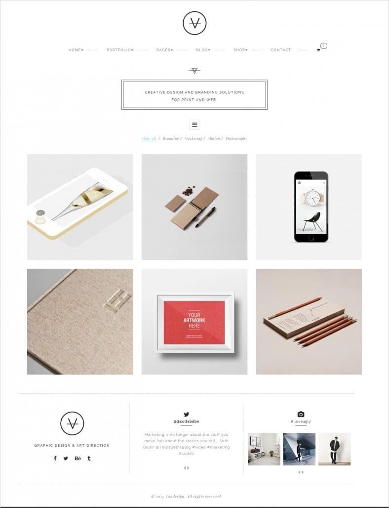 van minimalist agency gridbox theme 788x1028