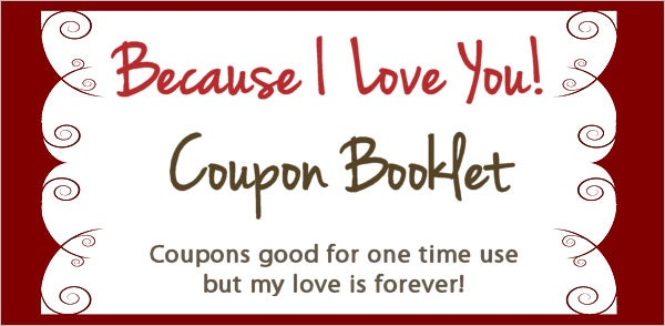 Search results for printable love coupons template for Coupon book template for husband