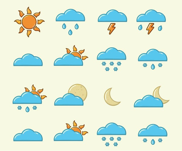 vector art weather icons