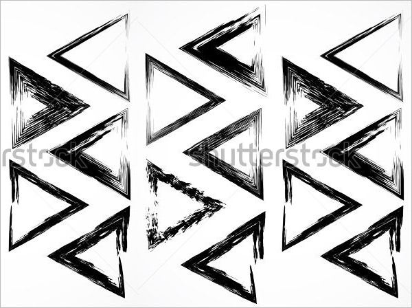 vector triangle brush frames