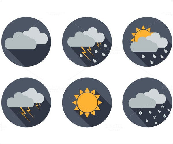 vector weather icons set 11