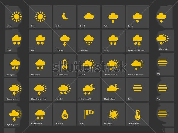 vector illustration weather icons