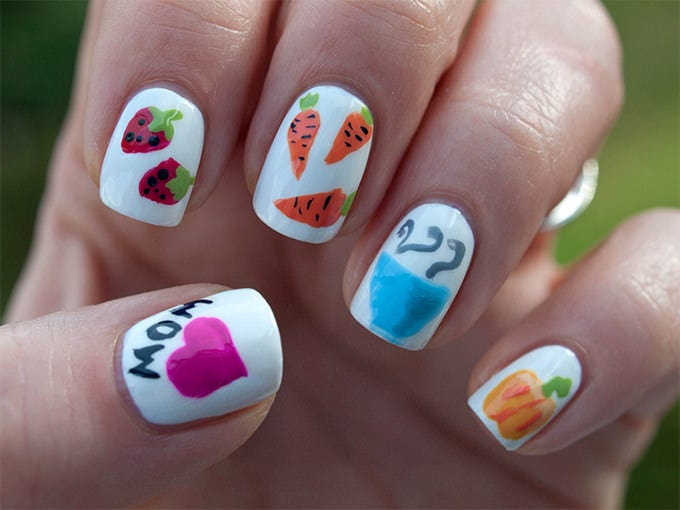 vegetable creative nail art