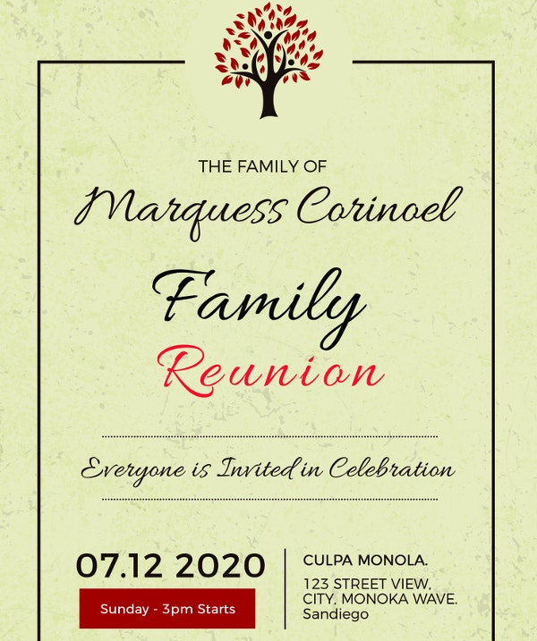 34 family reunion invitation template free psd vector eps png vintage family reunion invitation template free download maxwellsz