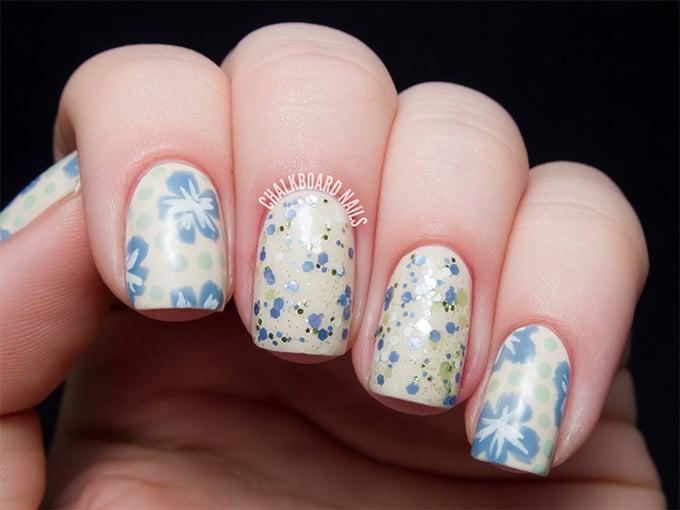 vintage glitter floral