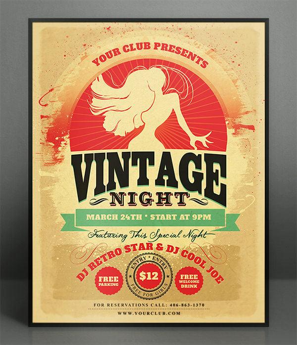 vintage poster mockup templates