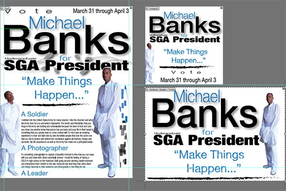 vote banks campaign flyer template