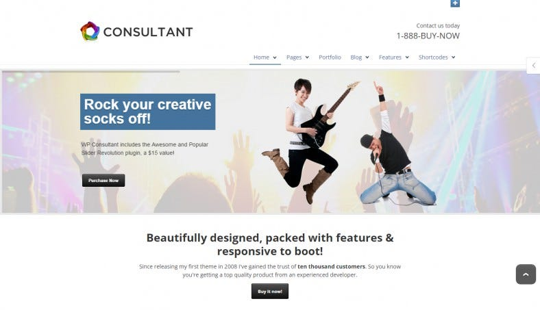 WP Consultant Responsive Template