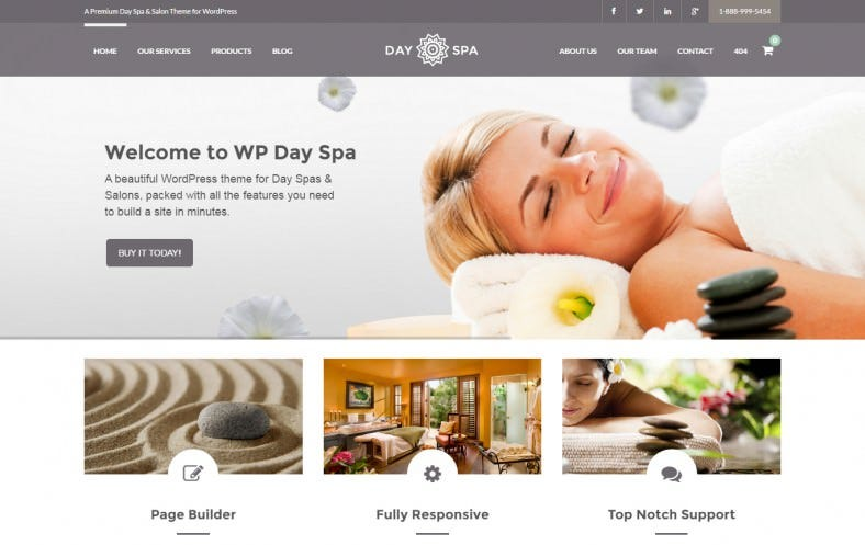 Day Spa & Salon WordPress Theme