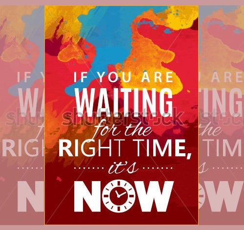waiting motivational psd posters