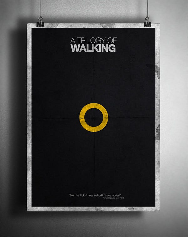 walking psd poster mockups