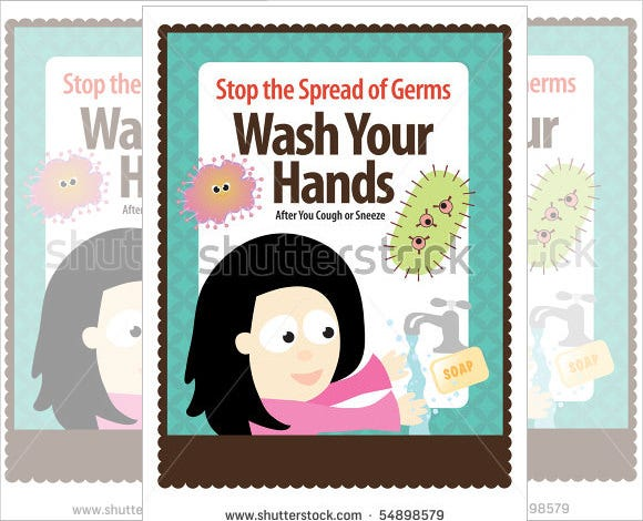 washing hands medical poster template