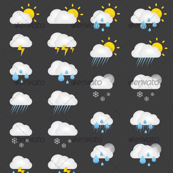 weather forcast icons suite