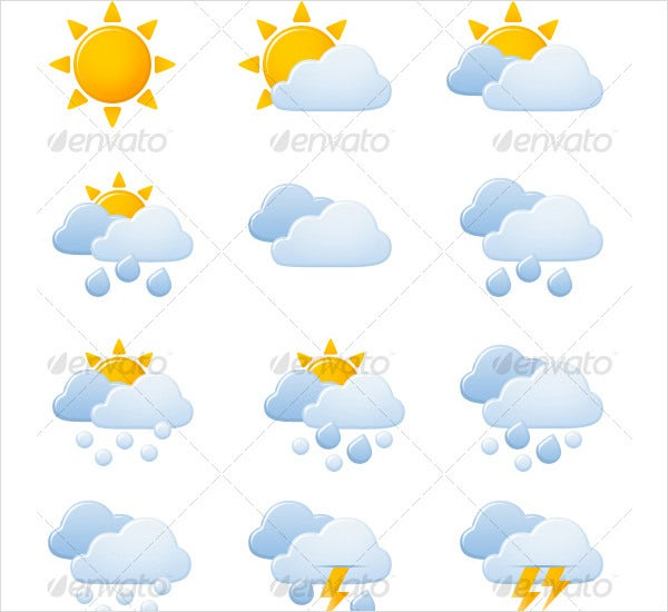 weather forecast icon suite 1