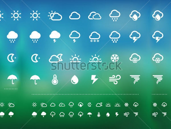 weather icon illustration set