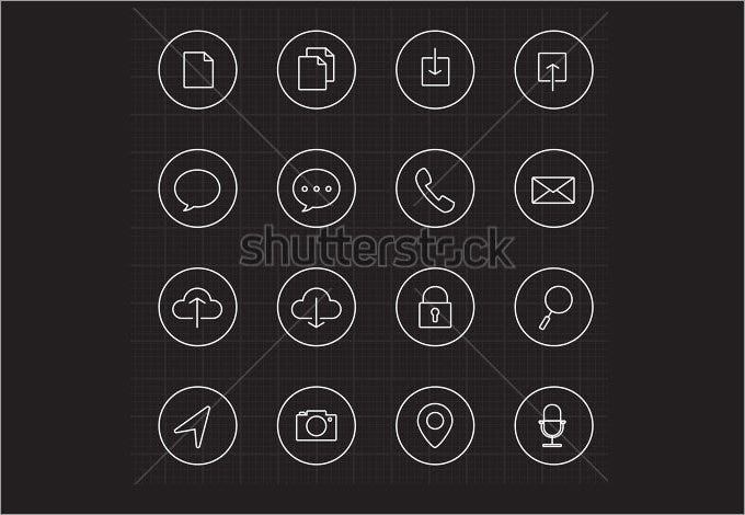 web and mobile with circle line icons