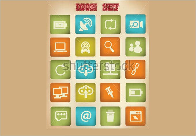 web and social network vintage iconsvector