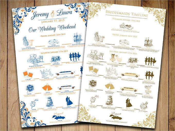 44 Wedding Itinerary Templates