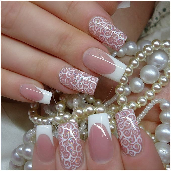 30+ Amazing Wedding Nail Designs for Every Bride! | Free & Premium ...