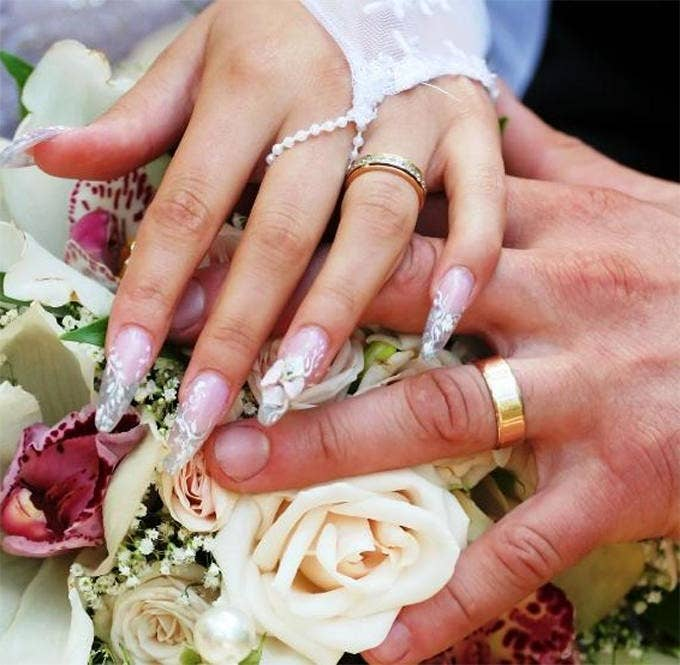 Wedding Nail Design Picture