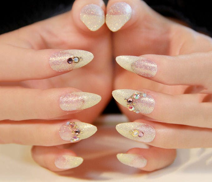wedding pointed nails