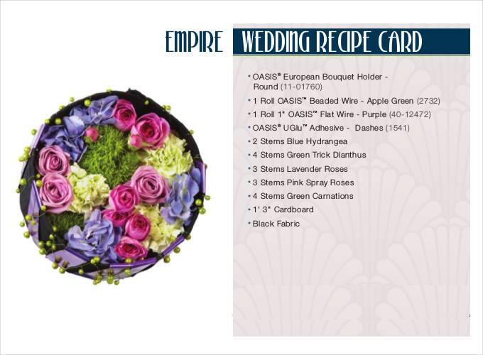 wedding recipe card1