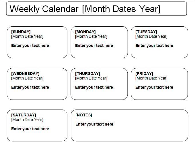 Week-Calendar-Template
