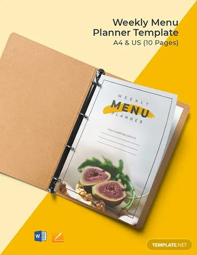 weekly menu planner template